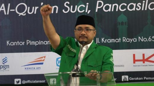 5 Juta Banser Gelar Apel Kebangsaan, Gus Yaqut Serukan Lawan Tokoh yang Baru Pulang ke Indonesia