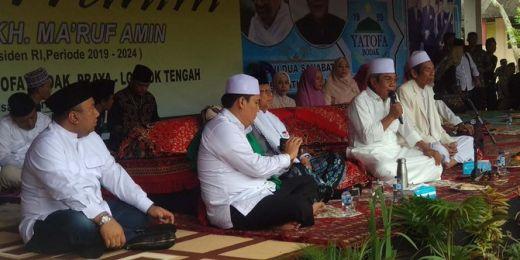 Kunjungi Lombok, Maruf Amin Bicara Tol Langit ke Para Santri