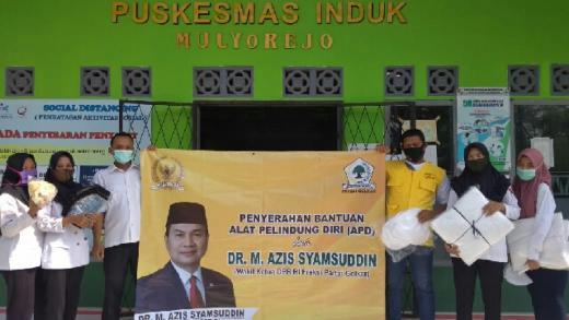 Tak Ingin Dokter Kembali jadi Korban Covid, Azis Syamsuddin Salurkan Bantuan APD ke Rumah Sakit