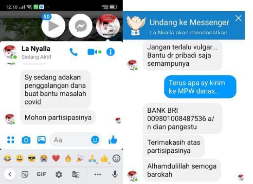 Akun FB LaNyalla Dibobol, Pelaku Inbox Minta Uang Modus Sumbangan Covid-19