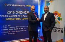 Perkembangan Asian Games 2018 Dibahas di Kongres World Martial Arts Masterships