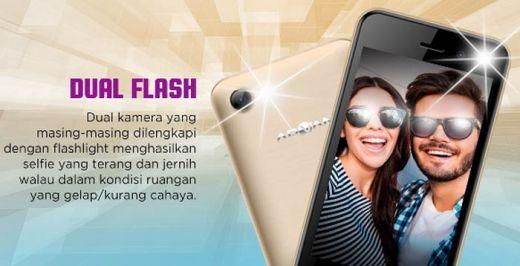 Advan i4D Smartphone 4G LTE Terlaris di Kelasnya, Andalkan Camera Dual Flashlight dan Speaker X-tra Sound