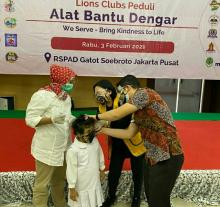 Sambut World Hearing Day 2021, Lions Clubs Distrik 307 A1 Sumbang 14 Unit ABD ke RSPAD
