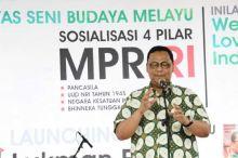 Lukman Edy Sosialisasi Empat Pilar Melalui Seni Budaya di Bumi Lancang Kuning Riau