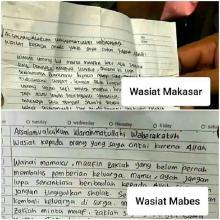 Surat Wasiat Bomber Makassar dan Penyerang Mabes Polri Mirip, Ini Kata Pengamat dan BNPT