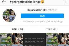 Viral? Tagar #GeorgeFloydChallenge tak Tembus 100 Postingan per Kamis Sore di Instagram
