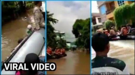 Viral, Video Relawan FPI Pinjam Dayung Evakuasi Korban Banjir Dicuekin Oknum Polisi