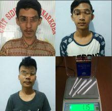Satres Narkoba Polres Pandeglang Ciduk 3 Pemuda Penyalahgunaan Narkoba
