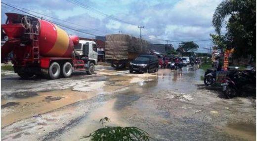 362 Km Jalanan di Pekanbaru Rusak Parah, Pemudik Diimbau Hati-hati