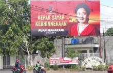 Baliho Dipasang agar Publik Yakin Puan Maharani Cocok jadi Cawapres Prabowo Subianto