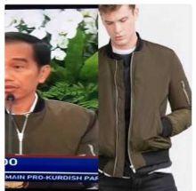 Baru Dirilis Zara, Jaket Jokowi Habis Terjual dengan Harga Rp800 Ribuan di Jakarta