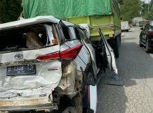 Mobilnya Ringsek, Mahyudin Selamat dari Kecelakaan Beruntun