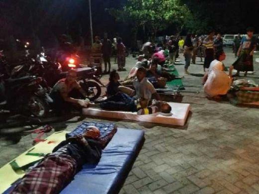 Ribuan Warga Mengungsi, 82 Orang Meninggal Akibat Gempa 7,0 SR di Lombok Utara