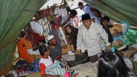Prabowo ke Lombok, Warga Korban Gempa Serukan 2019 PAS