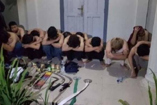Belasan Anggota Geng Diamankan Polres Bantul