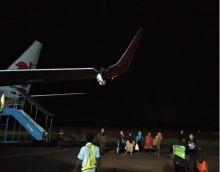 Waduh Pesawat Lion Air JT 633 Tujuan Bengkulu-Jakarta Tabrak Tiang Listrik