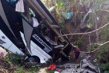 Bus Rombongan Wisata Sekolah TK Terguling, Korban Luka-luka dan Tewas