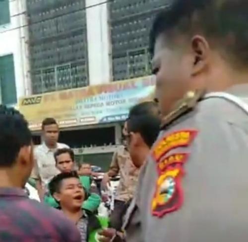 Ini Penjelasan Kasat Lantas Polresta Pekanbaru, Soal Driver Ojol Ngamuk Diduga Dipukul Polisi