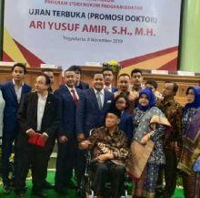 Predikat Sangat Memuaskan, Ari Yusuf Amir Resmi Sandang Gelar Doktor S3 di UII