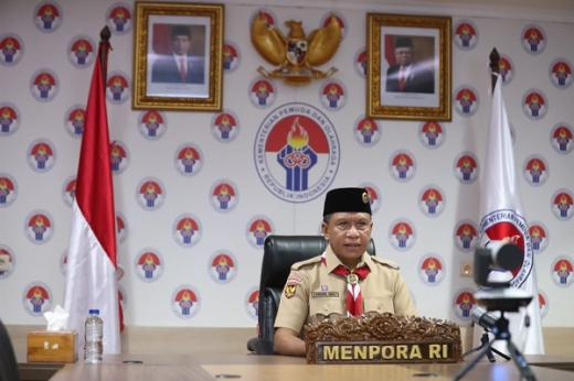 Menpora Ingatkan Pesan Jokowi di Rakernas Pramuka 2021