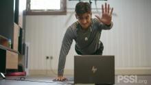 Jack Brown Tetap Semangat Jalani Virtual Home Trainning