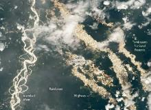 NASA Jelaskan Foto Sungai Emas Amazon