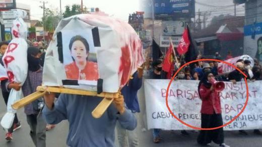 Usung Keranda Bergambar Puan Mahasiswi Ditangkap, Tokoh Sulteng Galang Dukungan 1.000 Tanda Tangan