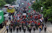 Aksi Lanjutan Tolak Omnibus Law, 2 Ribu Buruh Bakal Geruduk Istana Hari Ini
