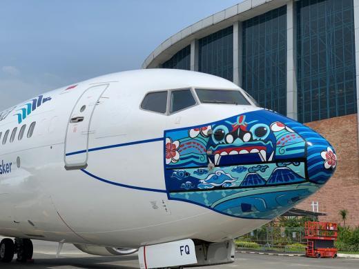 Garuda Luncurkan Armada Bermasker Desain Karya Pemenang Lomba