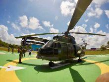 Uji Coba Landasan, Helikopter Puma Mendarat dengan Mulus di Jakabaring