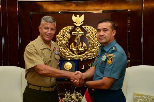 TNI AL Bahas Kerja Sama Dengan US Marine