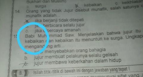 Hina Nabi Muhammad, Buku Agama SD di Pangkalpinang Ditarik