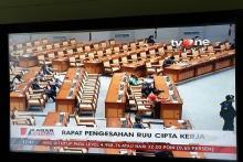 E-Parlement jadi Sebab Anggota tak Terima Fisik Naskah RUU Ciptaker