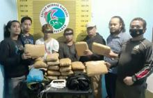 Bawa 20 Paket Besar Ganja, Warga Kuranji Padang Dicokok Petugas