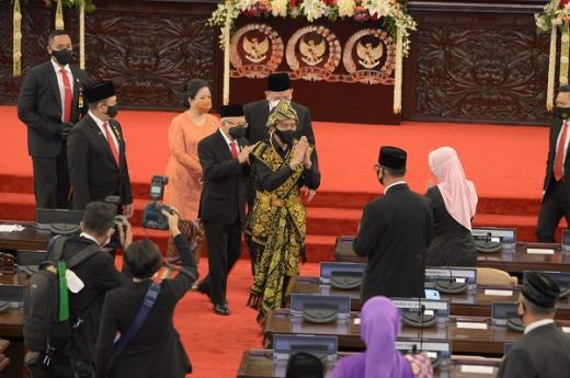 Tutup Sidang Istimewa, Puan Maharani Puji Baju yang Dikenakan Jokowi