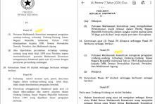 Otak-Atik Pasal 59 UU MK dan Peluang Hasil Uji Materi UU Ciptaker