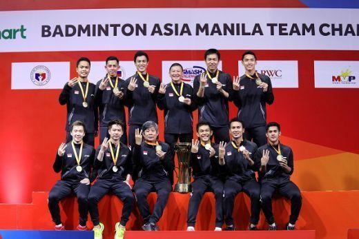 Tim Putra Indonesia Pertahankan Gelar Juara Beregu Asia