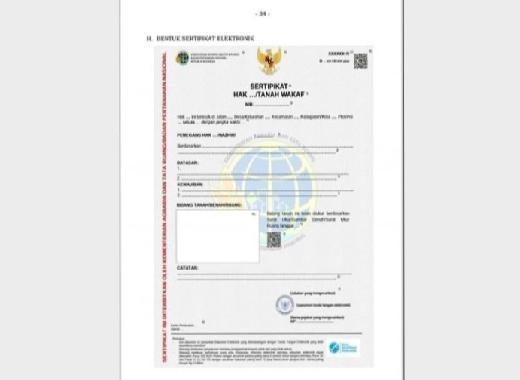 E-Sertifikat Tanah Disarankan Tak Ganti Sertifikat Fisik