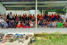 Hari Ini Forum PKB Peduli Salurkan Bantuan Alquran dan Tikar di Masjid Alkhairat Rumbai