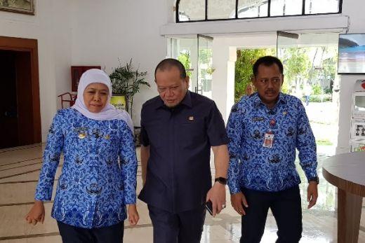 Bertemu Khofifah, Ketua DPD RI Siap Dukung Perpres Percepatan Pembangunan di Jatim