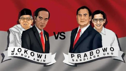 Quick Count IDM: Suara Masuk 96,8 Persen, Prabowo-Sandi Ungul 52,74 %, Jokowi-Amin 47,26%