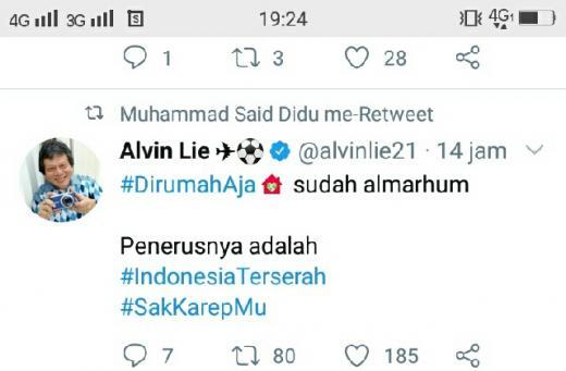 Ombudsman: Di Rumah Saja Sudah Almarhum, Gantinya Indonesia Terserah