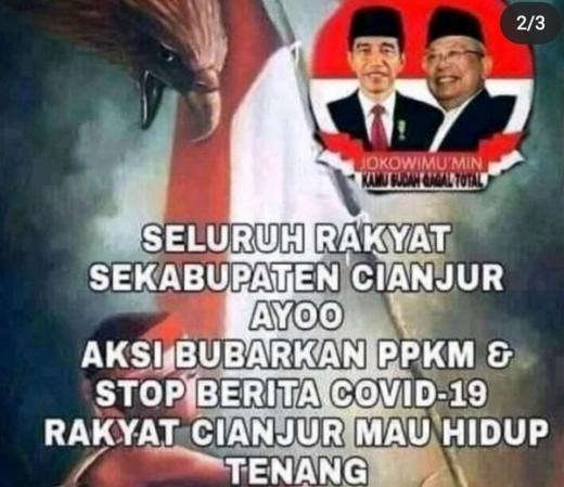 Viral Poster Aksi Bubarkan PPKM di Cianjur, Polisi Turun Tangan
