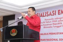 Sosialisasi 4 Pilar Bareng Soksi Sulut, Ketua MPR: Merawat Kebhinekaan Kunci Tetap Berdirinya NKRI