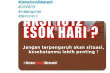 Tagar #DemoCovidMenanti Banjiri Media Sosial