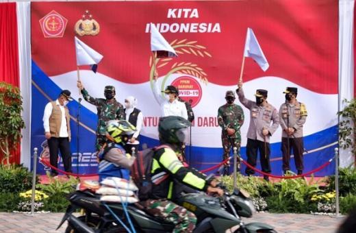 Ikuti Perintah Presiden, Kapolri: 2.500 Ton Beras dan 70.000 Paket Sembako Tolong Habiskan!