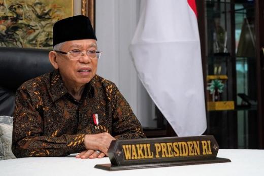 Maruf Amin Imbau Umat Islam Salat Idul Adha di Rumah
