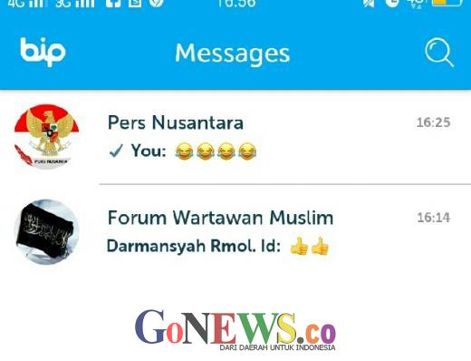 Group WhatsApp Forum Wartawan Muslim dan Pers Nusantara Beralih ke Aplikasi BiP