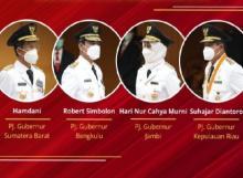 Kemendagri Lantik Pj Gubernur Sumbar, Kepri, Jambi dan Bengkulu