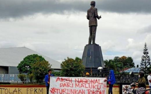 Tolak PPKM Darurat, Mahasiswa Ambon: Kami Tuntut Presiden Jokowi Mundur!